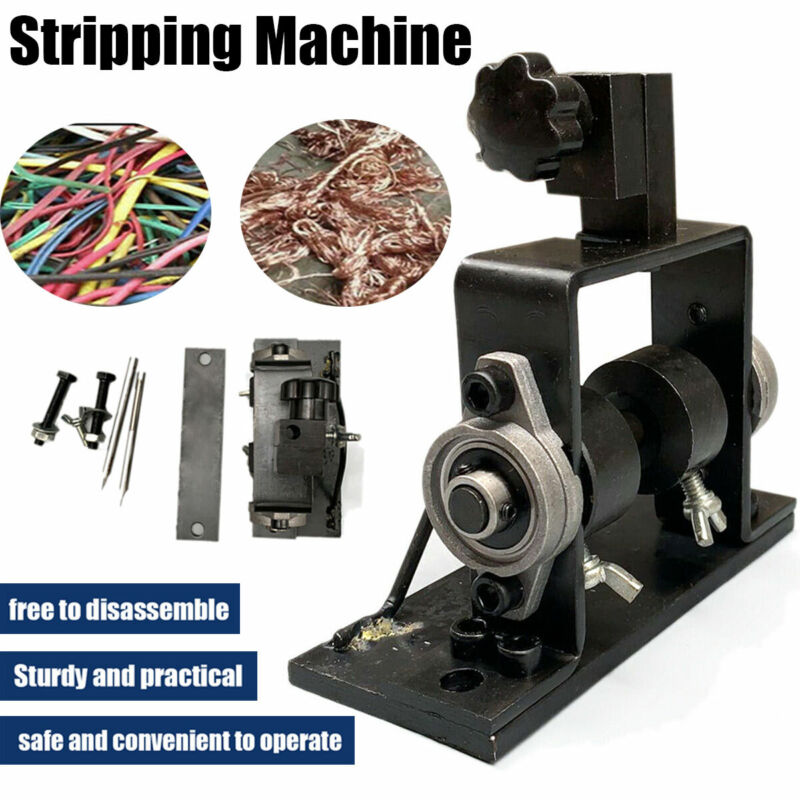 New Cable Stripper Portable Metal Recycle Tool Manual Wire Stripping Machine US