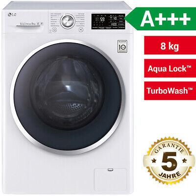 LG F 14U2 TCN2H Waschmaschine Frontlader Beladungserkennung A+++ Weiß 8kg