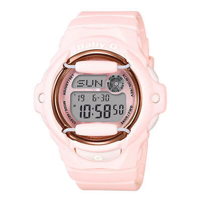 Casio Women's Watch Baby-G Pink and Grey Digital Dial Resin Strap BG169G-4B