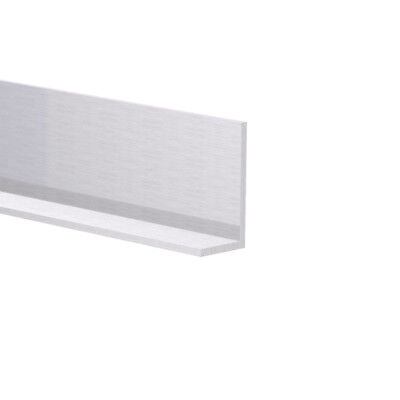 Aluminum Angle 12 X 1 X 116 Wall 6 Foot Length Clear Anodized