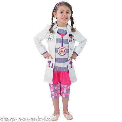Mädchen Disney Doc Mcstuffins Arzt Pflegepersonal Büchertag Kostüm Kleid Outfit ()