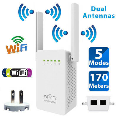 300Mbps Wifi Repeater Wireless-N Range Extender Signal Booster Network Router US