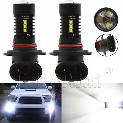 2x H10 9145 CREE LED Fog Lights 80W High Power Driving Bulbs 6000K White DRL