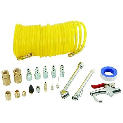 20 Piece Air Compressor Starter Kit with hose tire guage,chuck FREE SHIP