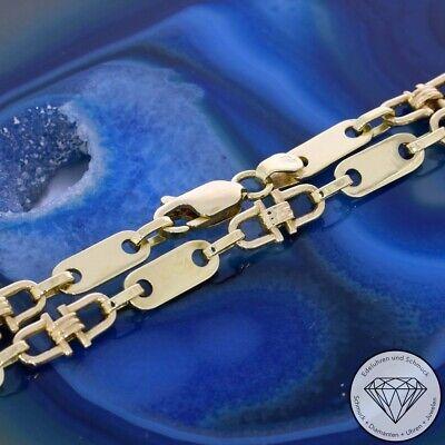 Wert 1.800,- Steigbügel Plättchen kette 585 / 14 Karat Gelb Gold xxyy