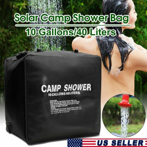 40L Portable Solar Heating Outdoor hiking travel Camp Portable Shower Water Bag