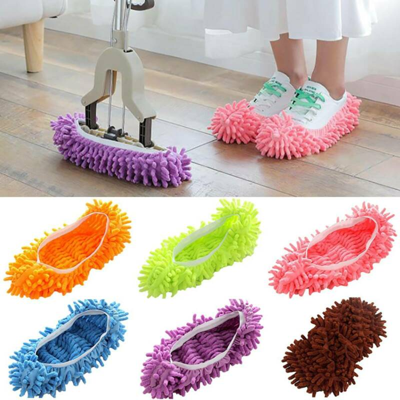 Mop Lazy Duster Sweep Floor Cleaner Slippers Covers Cleaning Feet Socks Shoes Cleaning Tools