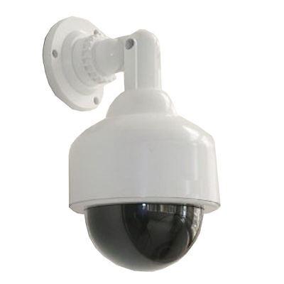 Dummy Fake Dome Security Camera Blinking LEDs Flashing Light CCTV Surveillance