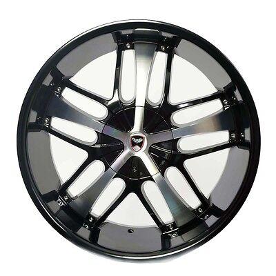 20 Black Fwd Wheels (4 GWG Wheels 20 inch Black Machined SAVANTI Rims ET35 TOYOTA SIENNA FWD 2004-17 )