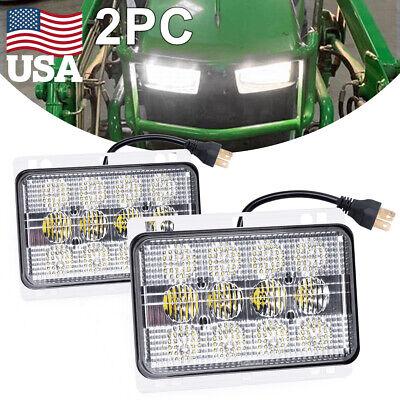 Clear Led Headlights For John Deere 5d-5m 5010-5025 6d-6j 6015-6030 Tractor