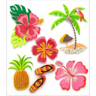 JOLEE's Scrapbooking 3D Sticker ~ HAWAIIAN ~ HAWAII ~ URLAUB ~ USA ~ PAZIFIK