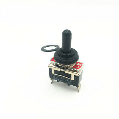 10sets Momentary Toggle Switch 123f 3pin 3position On-off-on Dpdt 15a 250vac Cap