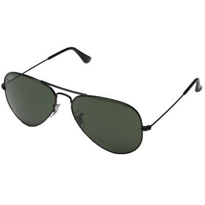 Ray-Ban Mens Classic Gray Polarized Gradiant Aviator Sunglasses O/S BHFO 4488
