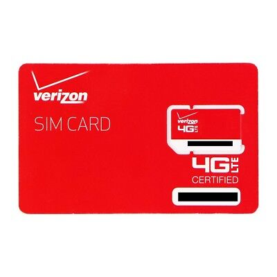 VERIZON 4G LTE SIM CARD WORKS WITH MOST VERIZON 4G CELL PHON