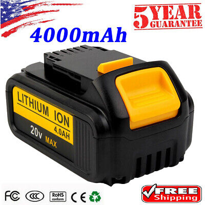 20V For Dewalt 20 Volt MAX DCB200-2 DCB204 DCB205 4.0Ah XR Lithium-Ion Battery
