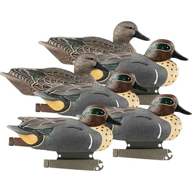 GHG Life Size Green Winged Teal Duck Decoys 6 Pack