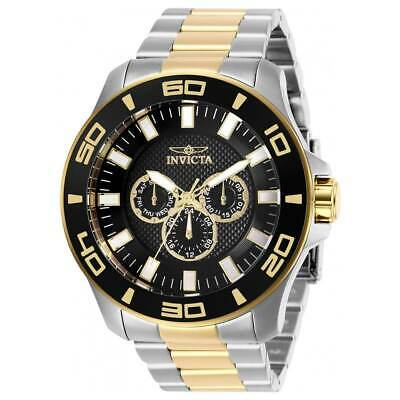 Invicta Men's Watch Pro Diver Chronograph Black Dial Two Tone Bracelet 27984