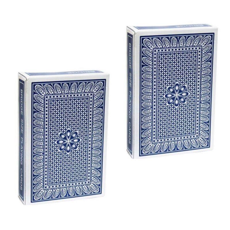 2 Blue Pro Brand Bridge Size Svengali Decks Easy Magic Card Tricks