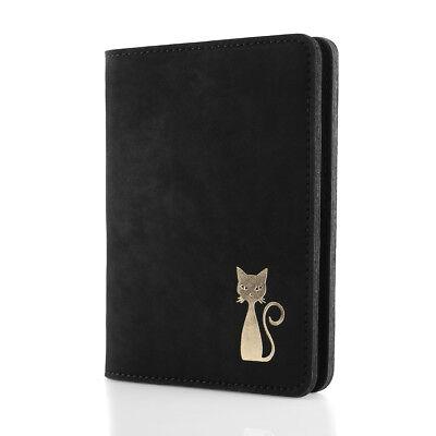 Surazo® Echtes Leder Premium Slim Brieftasche Leather Wallet Geldbörse - Schwarz - Schwarz Leather Slim Wallet