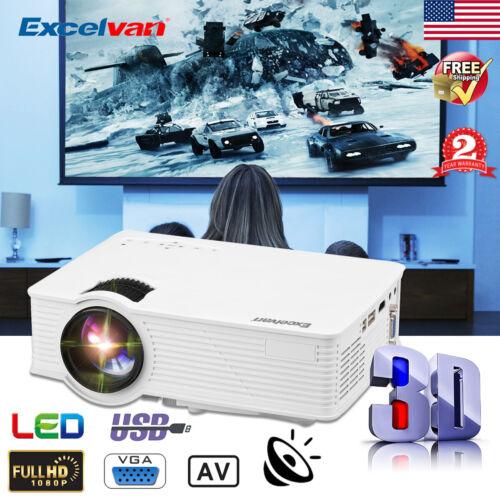 4000 Lumens GP9 Mini LED Projector 1080P HD Home Cinema Thea