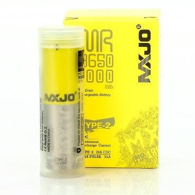 MXJO 3000MAH 35A IMR 18650 3.7V Battery | Authentic Original Flat Top Batteries