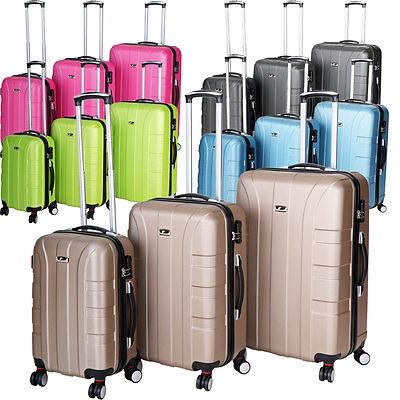 Zwillingsrollen Koffer Trolley Reisekoffer Hartschalenkoffer M - L - XL-3er Set