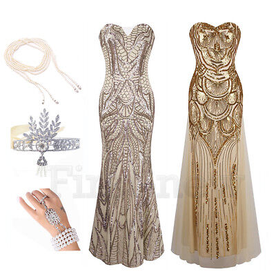 1920s Party Attire (1920s Flapper Dress Gatsby Party Sequin Dresses Cocktail Wedding Bridesmaid)