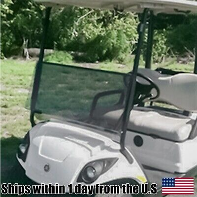 Golf Cart Tinted Folding Flip Down Fold Windshield Fits Yamaha Drive G29