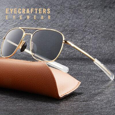 Gold Metal Aviator Sunglasses Premium Military Pilot Mens Polarized (Military Aviators)