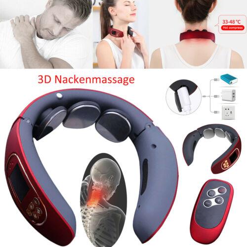 Elektrisch 3D Massagegerät Halswirbel Nacken Shiatsu Massage Wärmefunktion