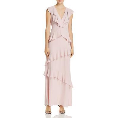 BCBG Max Azria Womens Pink Formal Maxi V-Neck Evening Dress Gown 8 BHFO 5832