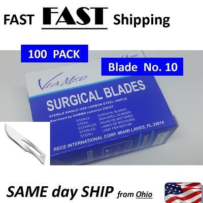 SCALPEL BLADES #10 - 100 PACK 10 Pack Scalpel Blades