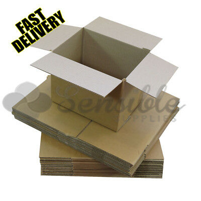 10 x HEAVY DUTY LARGE SHIPPING CARDBOARD POSTAL MAILING BOXES - 19X12.5X14