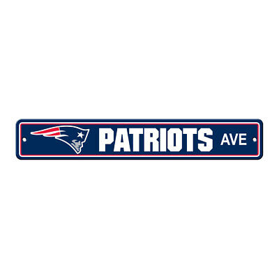 NFL New England Patriots Home Room Bar Office Decor AVE Street Sign 4