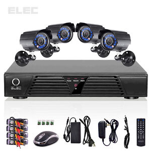 ELEC® 4CH CCTV DVR Motion Detection Security System Indoor Outdoor Color Cameras