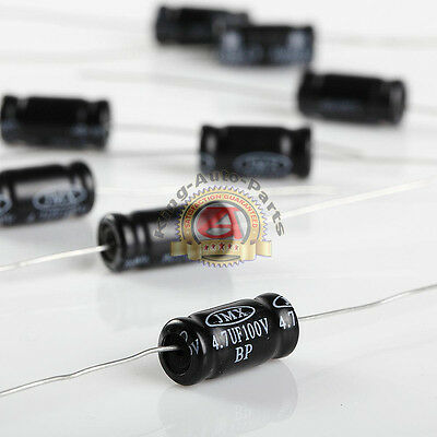Non-polarized Electrolytic Audio Capacitor 4.7uf 100v 10pk Free Shipping