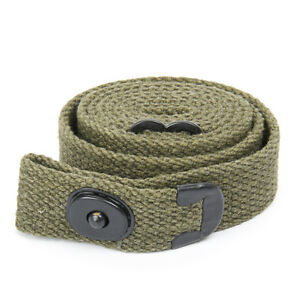 U.S. WWII M1 Carbine Web Sling - Marked U.S.,  OD Green, WW2 Pattern! (No Oiler)