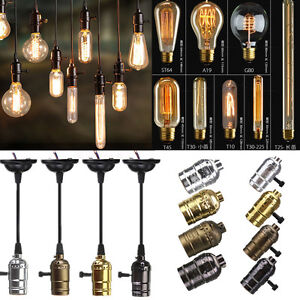 es e27 ampoule titulaire douille culot pour filament edison vintage lampe bulb ebay. Black Bedroom Furniture Sets. Home Design Ideas