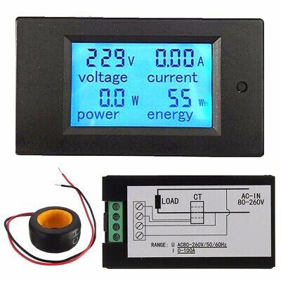 100a Ac Digital Led Power Monitor Module Watt Meter Panel Voltmeter Ammeter Us