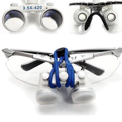 Dental Optical Loupe Dental Surgical Medical Binocular Loupes 3.5x 420mm Glasses
