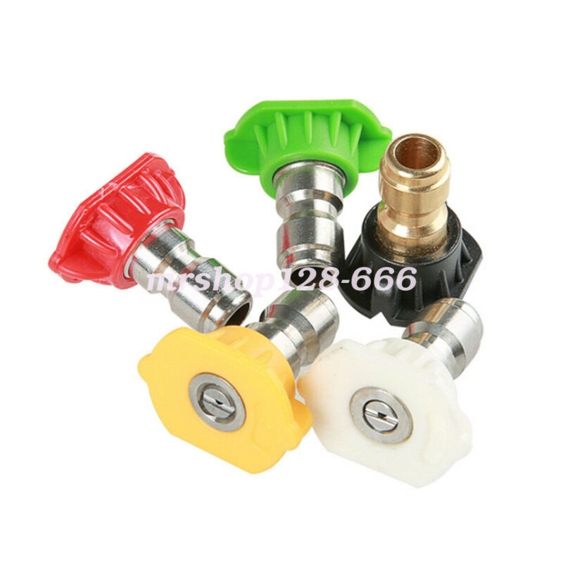 """5 in 1 High Pressure Washer Spray Nozzle Tip Set With 1/4"""" Quick Connect US"""