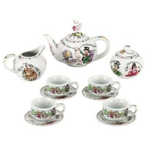 New boxed Paul Cardew Alice in Wonderland miniature teapot teacup tea set