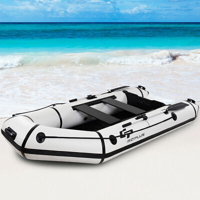 Goplus 4-Person 10FT Inflatable Dinghy Boat Fishing Tender Rafting Water Sports - Inflatable Sports