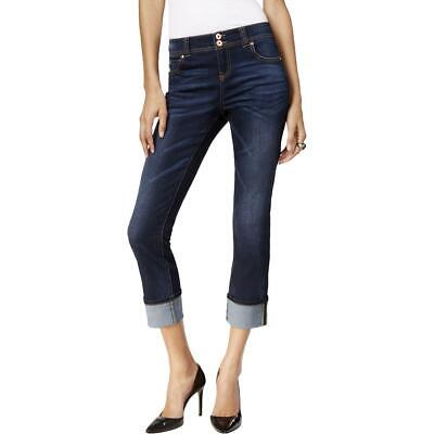 INC Womens Denim Crop Dark Wash Straight Leg Jeans Petites 10P BHFO 1377 Dark Denim Crop