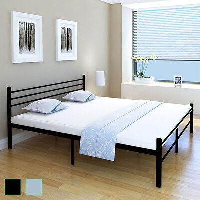 Schlafzimmerbett Einzelbett Doppelbett Metall Bettgestell Lattenrost 90-180 cm