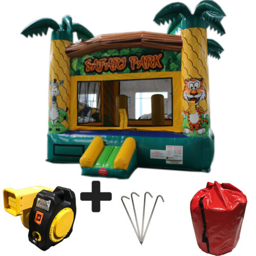 New 14ft Safari Commercial Inflatable Bounce House