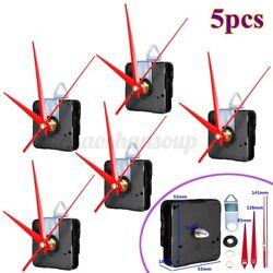 5x Red Hands Quartz Wall Clock Spindle Movement Mechanism Repair Tools Home