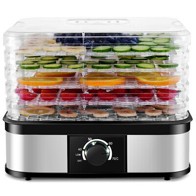Food Dehydrator 5 Tray Food Preserver Fruit Vegetable Dryer