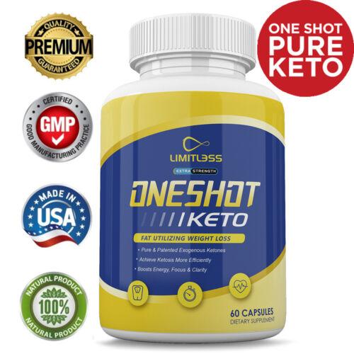 One Shot Keto Pills - Limitless Oneshot Keto Capsules - 1 Month Supply
