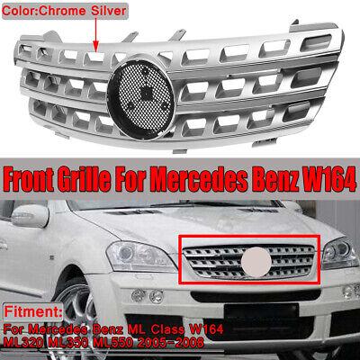 Kühlergrill Frontgrill Grill Silber für Mercedes W164 ML320 ML350 ML550 2005-08